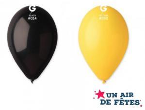 ballons jaune et noir biodegradable