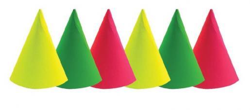 chapeaux cône fluo
