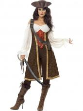 deguisement pirate femme marron