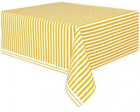 nappe plastique rayee jaune et blanche