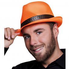 chapeau borsalino orange