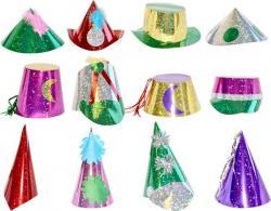 Chapeaux métallisés multicolores pas cher