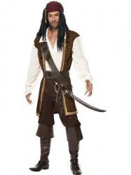 Déguisement Pirate pour homme marron pas cher