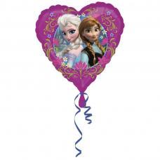 ballon reine des neiges en forme de coeur
