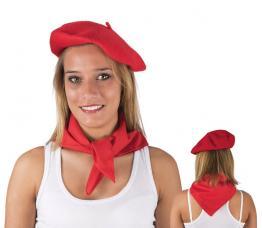 beret adulte basque laine rouge