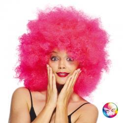 Perruque super afro rose pas cher