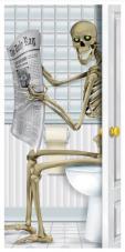 décor de toilettes squelette