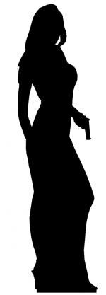 Décoration Agent Secret Femme Géante
