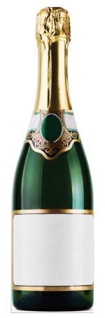 Décoration Bouteille de Champagne Géante