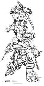 Décoration Géante Tortues Ninja Coloriage
