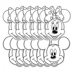 Masques Coloriage Mickey et Minnie
