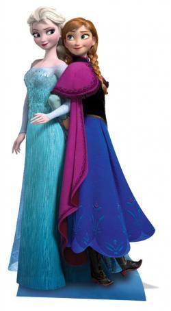 Décoration Anna et Elsa Géante