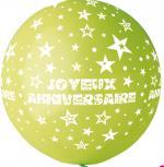 Ballon Géant Joyeux Anniversaire Vert Anis
