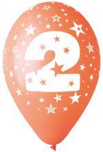 Ballons Chiffre 2 Latex