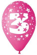 Ballons Chiffre 3 Latex
