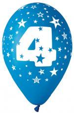 Ballons Chiffre 4 Latex