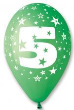 Ballons Chiffre 5 Latex
