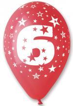 Ballons Chiffre 6 Latex