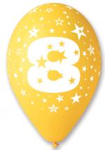 Ballons Chiffre 8 Latex