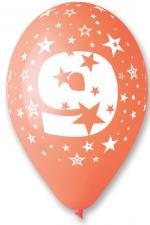 Ballons Chiffre 9 Latex