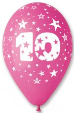 Ballons Chiffre 10 Latex