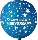 Ballon Géant Joyeux Anniversaire Bleu Roi