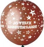 Ballon Géant Joyeux Anniversaire Chocolat