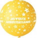 Ballon Géant Joyeux Anniversaire Jaune