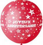 Ballon Géant Joyeux Anniversaire Rouge