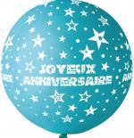 Ballon Géant Joyeux Anniversaire Turquoise