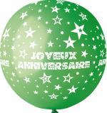 Ballon Géant Joyeux Anniversaire Vert