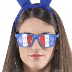 Lunettes supporter tricolore France