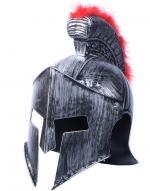 Casque chef militaire romain crête rouge
