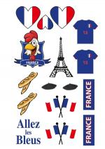 Déguisements Tatoos supporter France