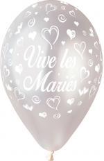 Ballons vive les mariés Argent