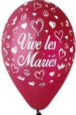 Ballons vive les mariés Bordeaux