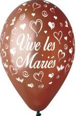 Ballons vive les mariés Chocolat