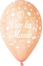 Ballons vive les mariés Pêche