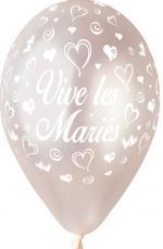 Ballon vive les mariés Perle