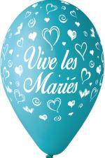 Ballons vive les mariés Turquoise