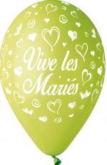 Ballons vive les mariés Vert Anis