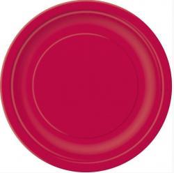 Assiettes rouges carton