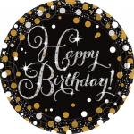 Déguisements 8 Assiettes en carton Happy Birthday