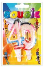 Bougie anniversaire 40 ans