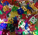Déguisements Confettis de table chiffre 18
