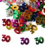 Déguisements Confettis de table chiffre 30