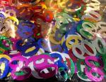 Déguisements Confettis de table chiffre 60