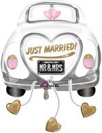 Ballon Voiture Mariés Just Married