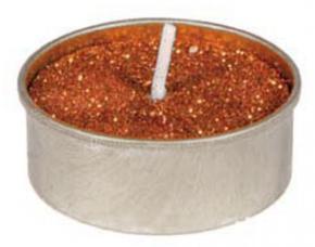6 bougies chauffe plat cuivre metallise