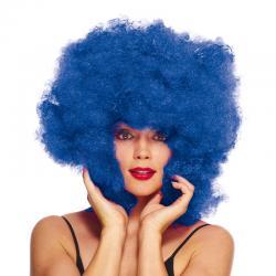 Perruque super afro bleu pas cher